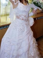 Продам свадебное платье,  р-р 42-46,  атлаcное